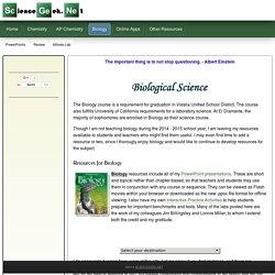 Biology Homepage