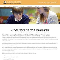 Biology Tutor Near Me, A Level Private Biology Tuition London