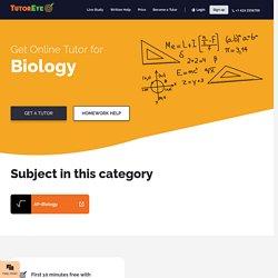 Biology tutor online