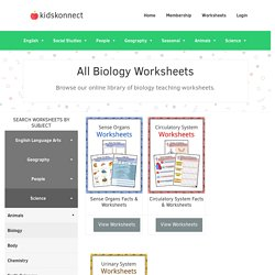 Biology Worksheets, Lesson Plans & Study Material For Kids