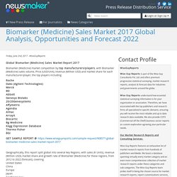 Biomarker (Medicine) Sales Market 2017 Global Analysis, Opportunities and Forecast 2022