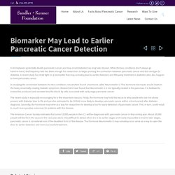 Lead to Earlier Pancreatic Cancer Detection