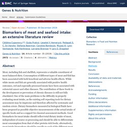 GENES & NUTRITION 30/12/19 Biomarkers of meat and seafood intake: an extensive literature review