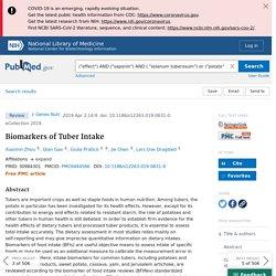 Biomarkers of Tuber Intake - PubMed
