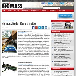 Biomass Boiler Buyers Guide