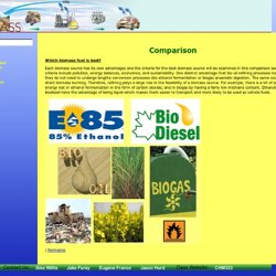 CHM333: Biomass: Comparison Archives