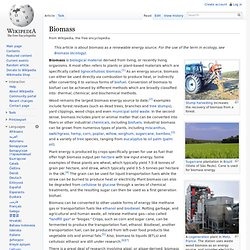 Biomass - Wikipedia, the free encyclopedia - (Build 201004010646