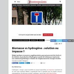 Biomasse vs hydrogène : solution ou impasse