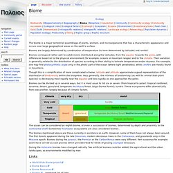Biome - Palaeos.org