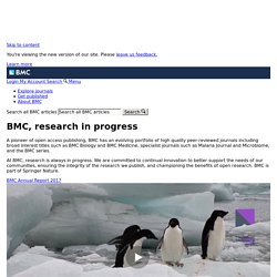 BioMed Central - 206 Open Access Journals