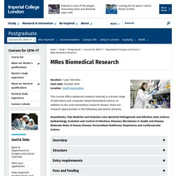 MRes Biomedical Research