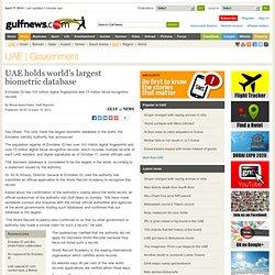 UAE holds world's largest biometric database