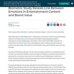 Biometric Study Reveals Link Between Emotions in Entertainment Content and Brand Value