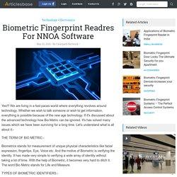 Biometric Fingerprint Readres For NNOA Software