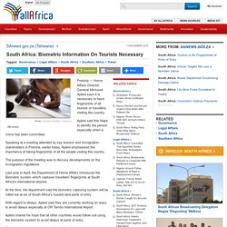 South Africa: Biometric Information On Tourists Necessary