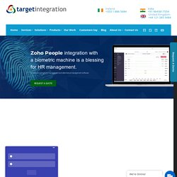 Biometric integration with Zoho People - Target Integration