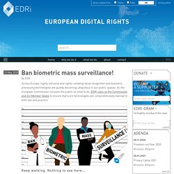 Ban biometric mass surveillance!