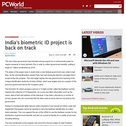 India's biometric ID project is back on track
