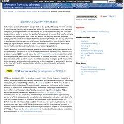 Biometric Quality Homepage