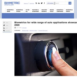Biometrics for wide range of auto applications showcased at CES 2020