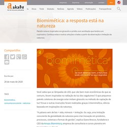 Biomimética: a resposta está na natureza - Akatu