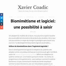 Biomimétisme et logiciel: une possibilité à saisir