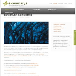 Biomimicry Institute - Home