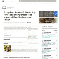 Ecosystem Services & Biomimicry: New Tools and Approaches to Improve Urban Resilience and Health