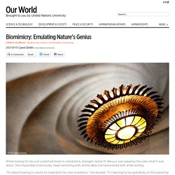Biomimicry: Emulating Nature's Genius