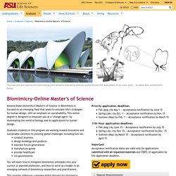Biomimicry-Online Master's of Science