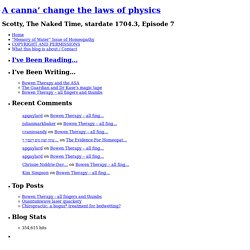 Bionase « A canna' change the laws of physics
