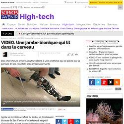 VIDEO. Une jambe bionique qui lit dans le cerveau