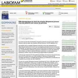 Revue Institutionnelle du Groupe d'Entreprises de Productions Biopharmaceutiques et Chimiques, LABIOFAM