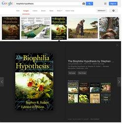 biophilia hypothesis