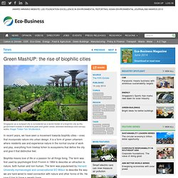 Green MashUP: the rise of biophilic cities