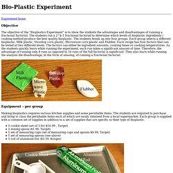 bioplastic Experiment