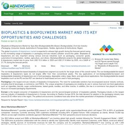 Bioplastics & biopolymers Market and Its Key Opportunities and Challenges