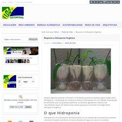 Bioponia a Hidroponia Orgânica