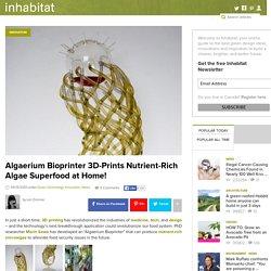 Algaerium Bioprinter 3D-Prints Nutrient-Rich Algae Superfood at Home!