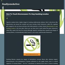 How To Teach Bioresonance To Stop Smoking London