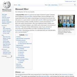 Wikipédia - Biosand filter