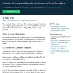 DAERA-NI_GOV_UK - Biosecurity is the prevention of disease causing agents entering or leaving any place where they can pose a risk to farm animals, other animals, humans, or the safety and quality of a food product.