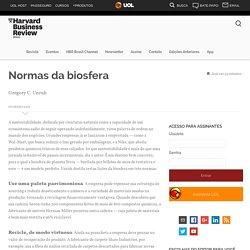Normas da biosfera - Harvard Business Review Brasil
