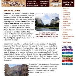 Biosphere: Erosion