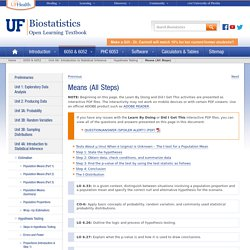 Means (All Steps) » Biostatistics » College of Public Health and Health Professions » University of Florida