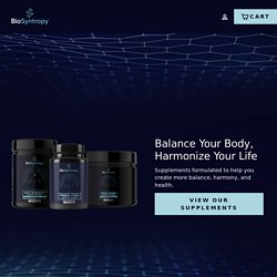 - Balance Your Body, Harmonize Your Life – Biosyntropy supplements
