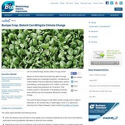 BIO_ORG - Bumper Crop: Biotech Can Mitigate Climate Change