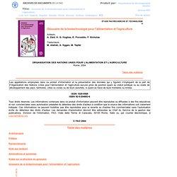 2004 - Glossaire de la biotechnologie pour l'alimentation et l'agriculture