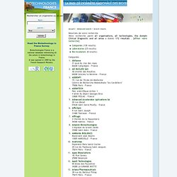 Search results in the Biotechnologies France database