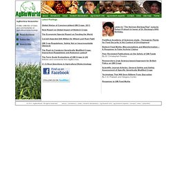 AgBioWorld - Supporting Biotechnology in Agriculture